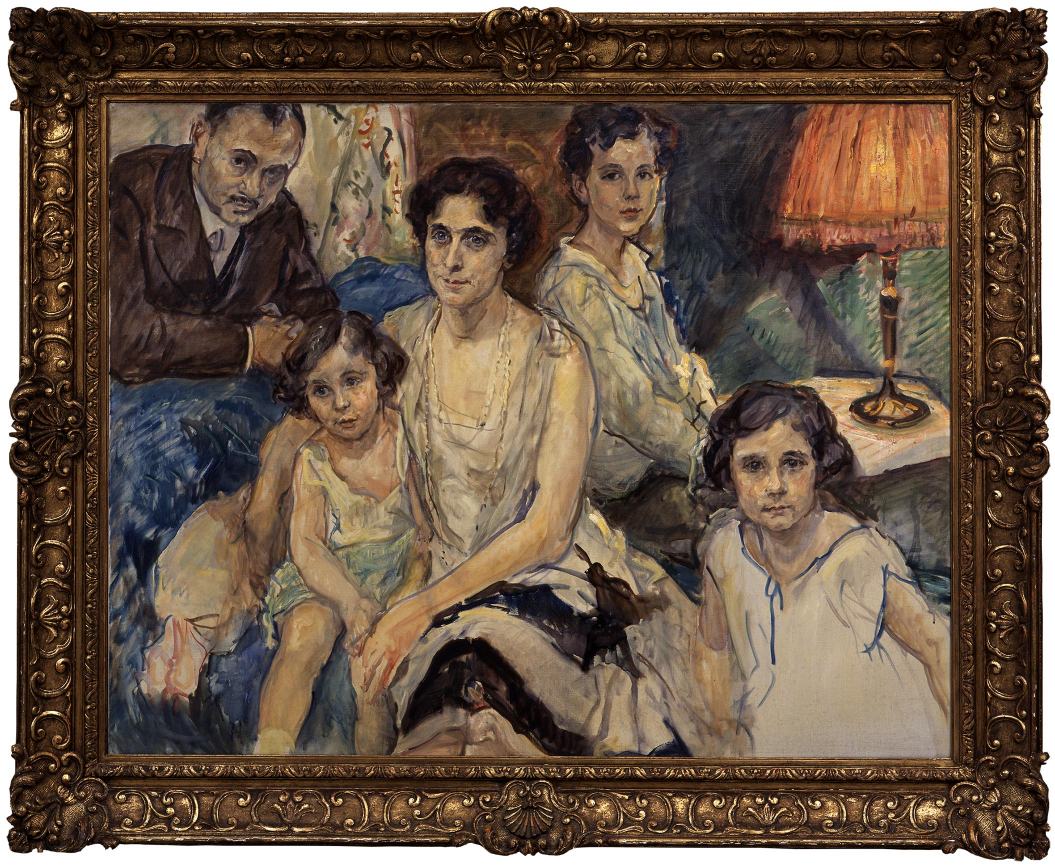 Gemälde: Max Slevogt, Familienbild Plesch