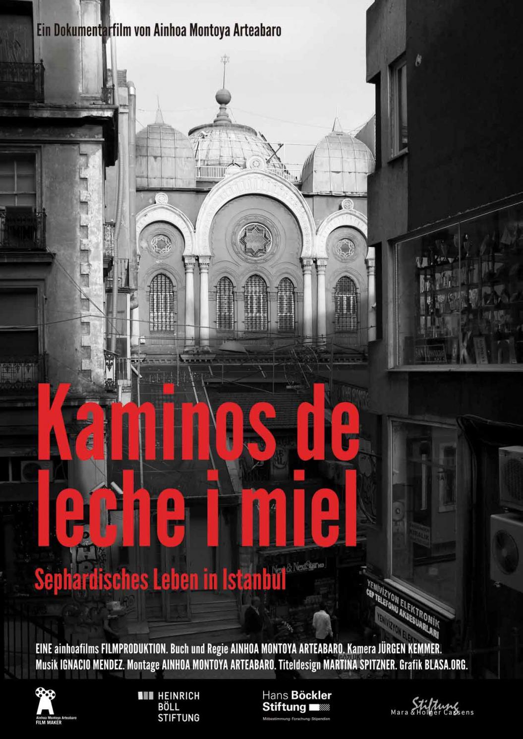 Filmplakat mit dem Foto einer Synagoge in Instanbul