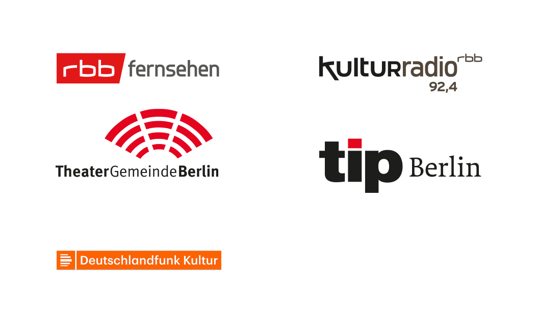 rbb Fernsehen, Kulturradio rbb, tip Berlin, Deutschlandradio Kultur, TheaterGemeinde Berlin
