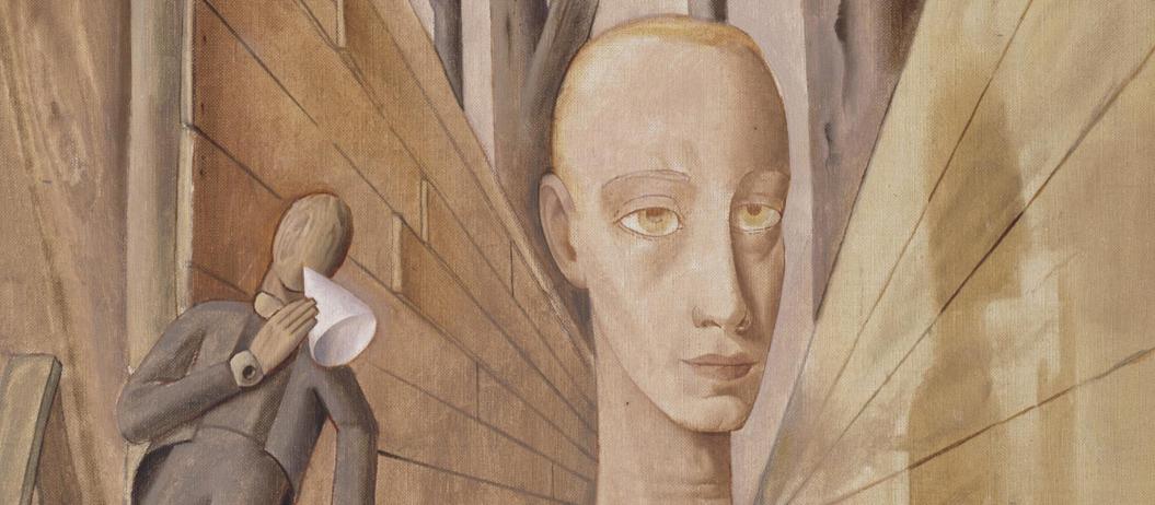 Ausschnitt aus dem Gemälde: Felix Nussbaum, Einsamkeit