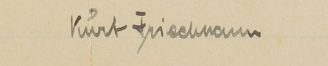 Kurt Friedmann's signature