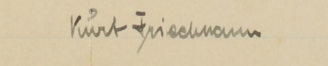 Kurt Friedmann's signature