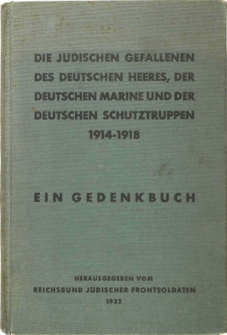 Book cover, green linen, with printed inscription