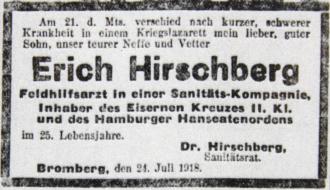 Death notice, printed, with black border