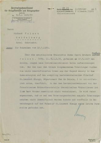 Brief, gedruckter Briefkopf, maschinenschriftlich