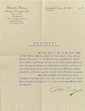Printed letterhead, typed