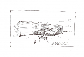 Planning sketch of the building