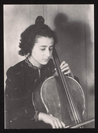 Anita Lasker 1938 playing the cello