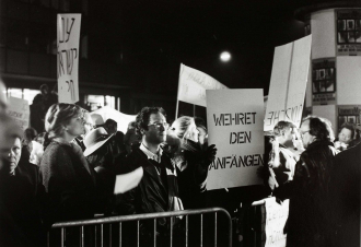 Photograph of protestors