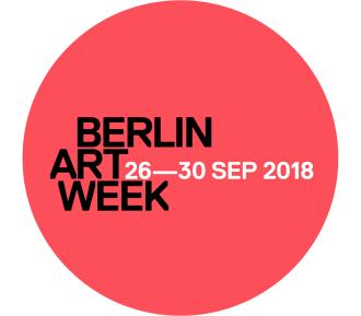 Logo der Berlin Art Week vom 26. bis 30. September 2018