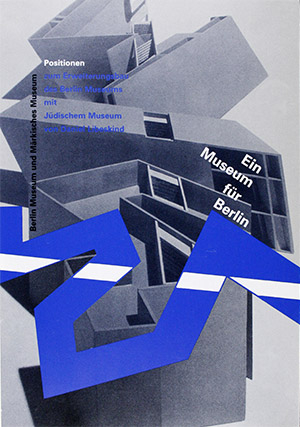 Cover of brochure from the celebration for the topping-out of the Jewish Museum Berlin