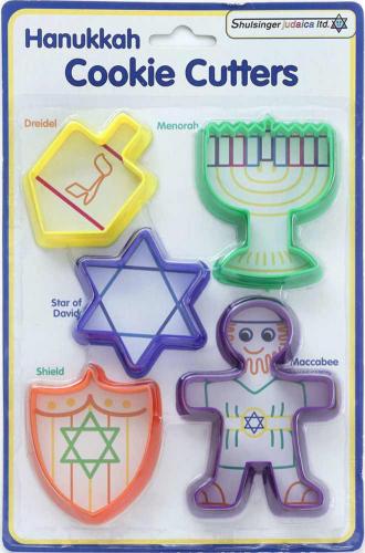 Five Hanukkah cutters for children