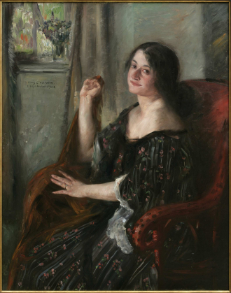 Painting by Lovis Corinth: Portrait of Charlotte Berend