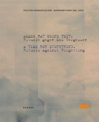 "Catalogue Cover for the Exhibition ""A time for Everything"": a sky like atmosphere with text"