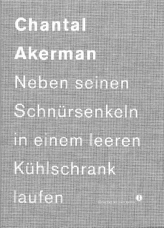 """Cover """"Chantal Akerman"""""""