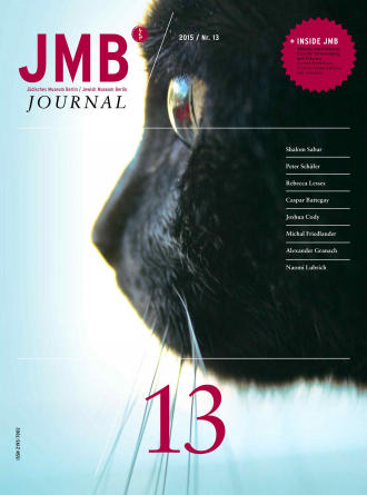 Cover of Journal Thirteen: close up of a side view of a black cat's face