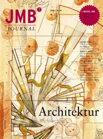"Cover of ""Architecture"", Journal Fourteen: drawn abstract geometric shapes"