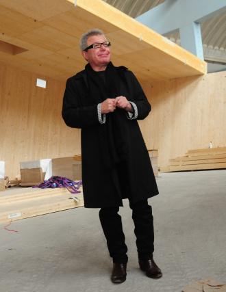 Daniel Libeskind auf der Baustelle