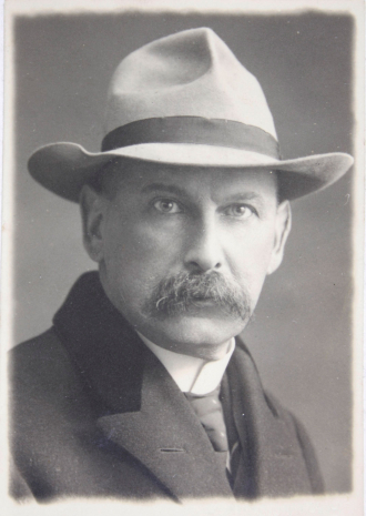 Black and white portrait of Ludwig Haas