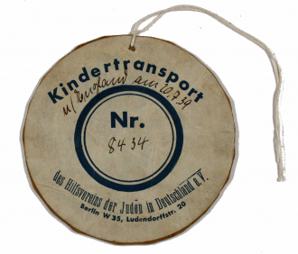 Cardboard number tag