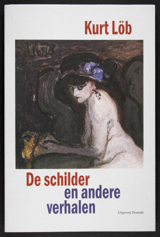 Buchcover von Kurt Löb: »De schilder en andere verhalten« mit Akt-Gemälde