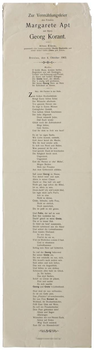 Gedrucktes Gedicht