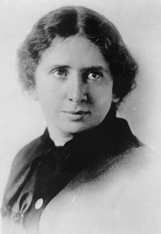 Black and white portrait photo of Rose Schneiderman