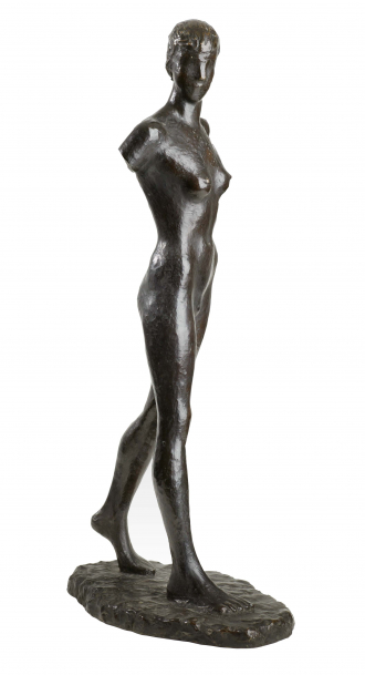 Sculpture: <cite>Girl Walking</cite> by Elisabeth Wolff