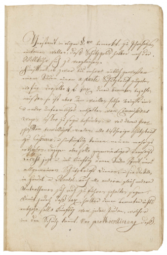 Handwritten document from the eighteenth century