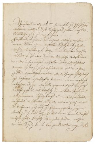 Handschriftliches Dokument aus dem 18. Jahrhundert