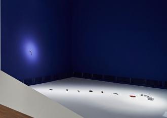 View of Jana Sterbak's artwork <cite>Golem: Objects as Sensations</cite>