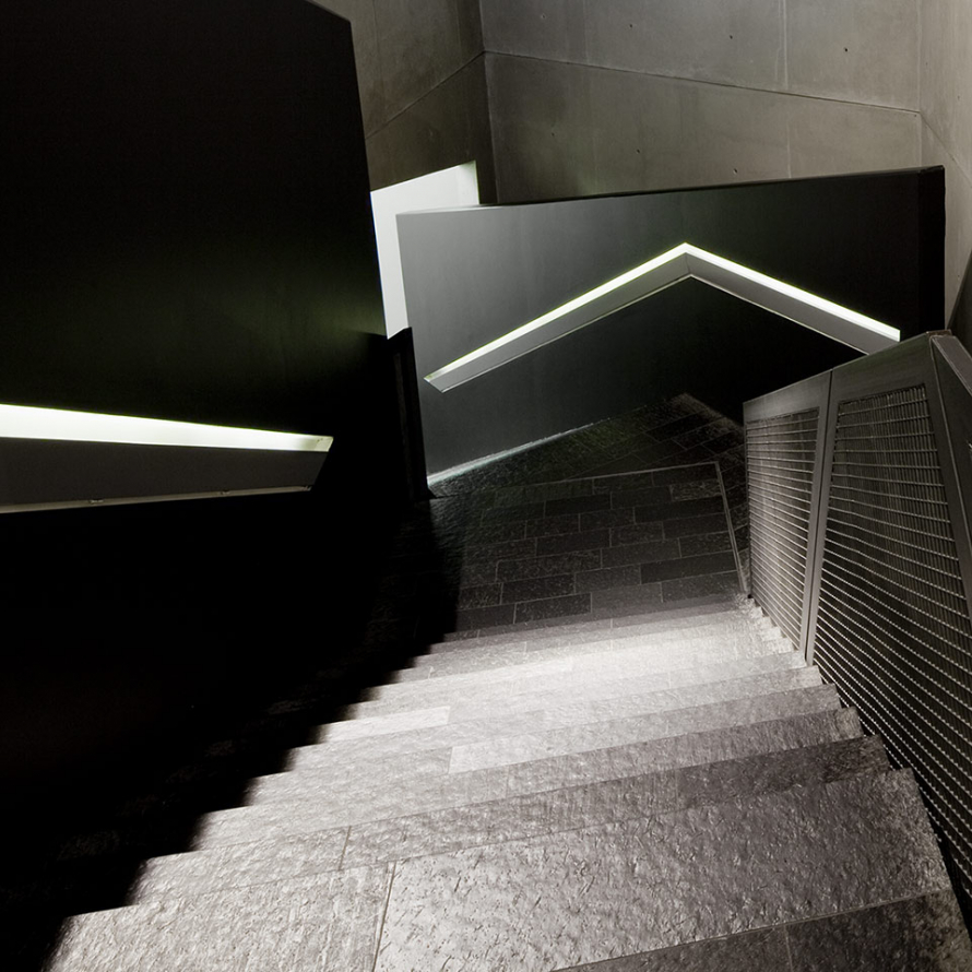 Photography: View down the stairs to the axes