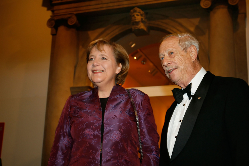 Anniversary dinner 2006: Angela Merkel and W. Michael Blumenthal