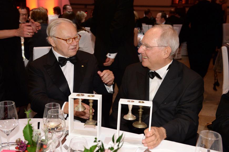 Anniversary dinner 2014: Award winners Wolfgang Schäuble and Hubert Burda
