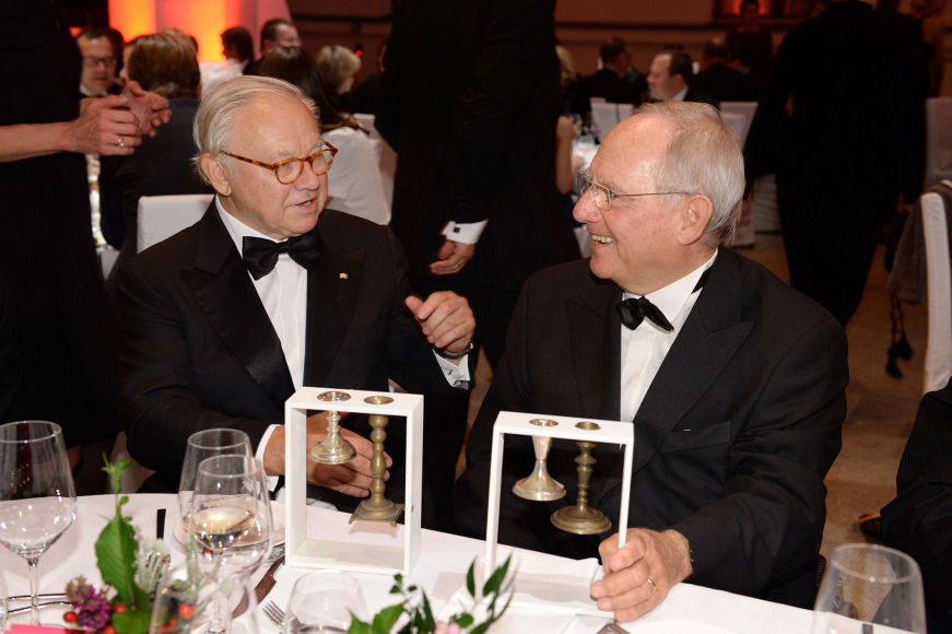 Anniversary dinner 2014: Award winners Wolfgang Schäuble and Hubert Burda