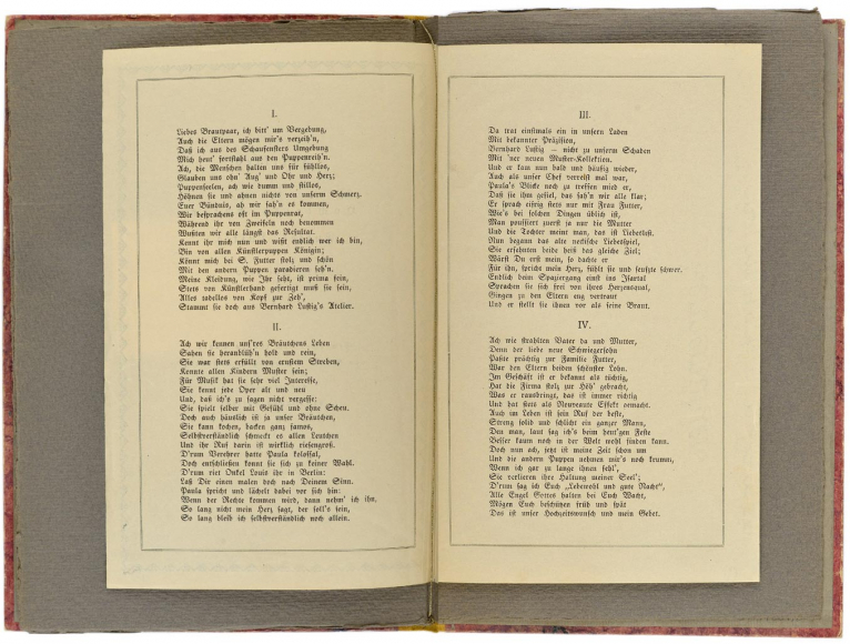 Doppelseite mit zwei Seiten des Festliedes von Hanna Futter.