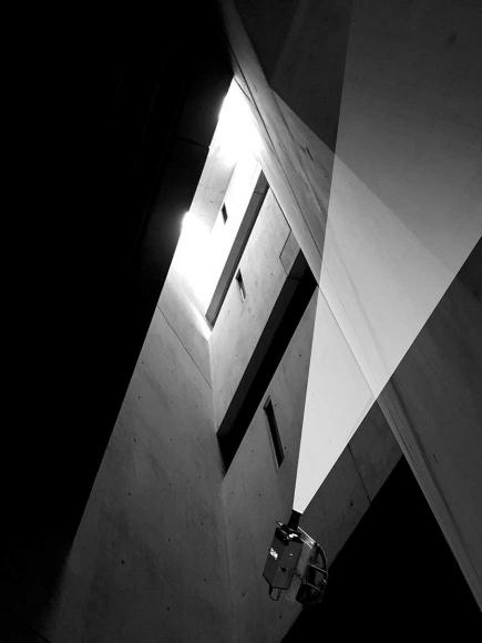 Libeskind-Bau mit Installation (Skizze)