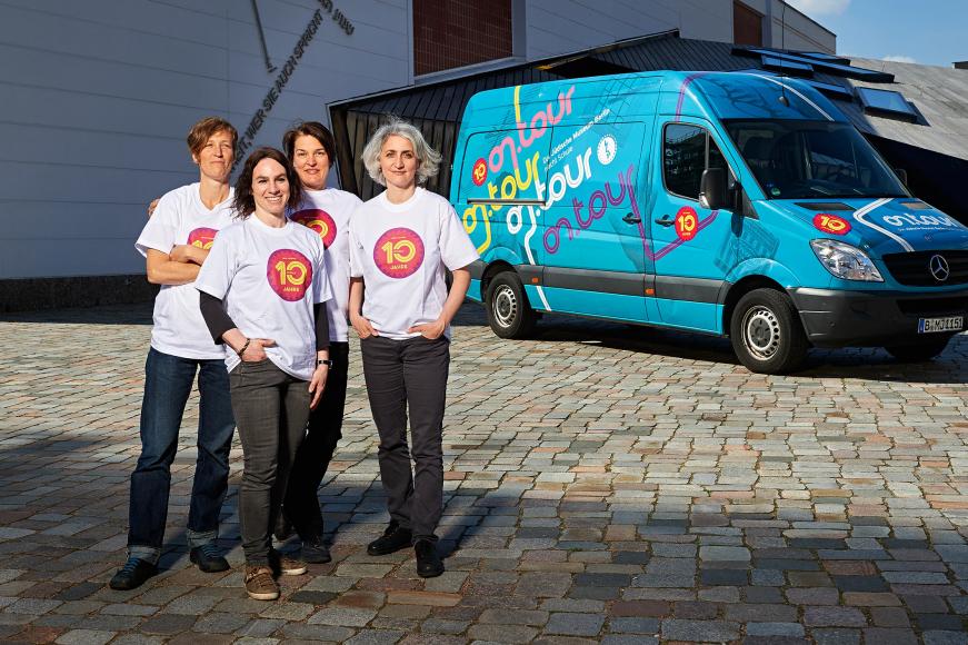 Von links: Barbara Rösch, Katja Oelschläger, Ariane Kwasigroch und Sarah Hiron