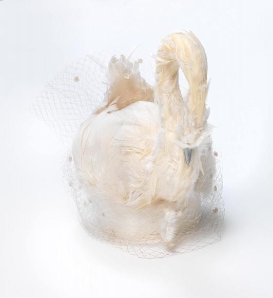 Lotti Huber's (1912–1998) swan hat