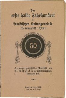 Titelseite der Broschüre mit der Jubiläumszahl 50, umrahmt von Blumenblüten