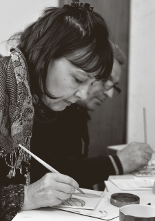 Portrait der Lehrerin und Übersetzerin Birgit Russi