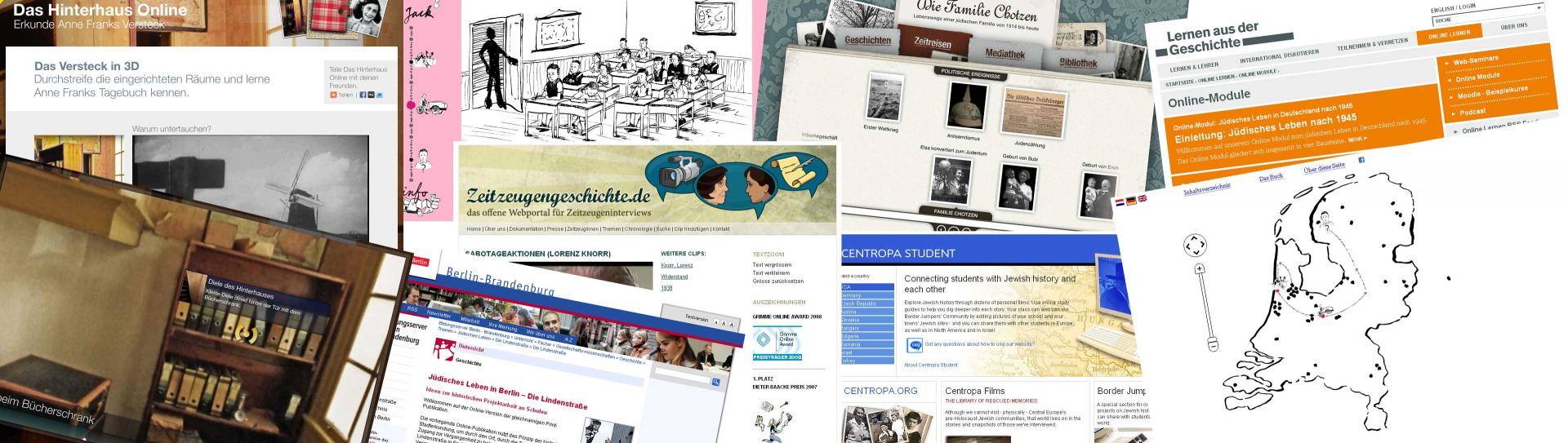 Collage aus Screenshots
