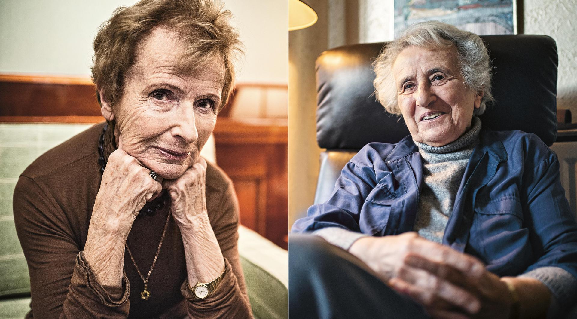 Porträts von Renate Harpprecht (links) und Anita Lasker-Wallfisch
