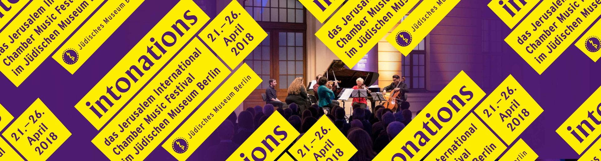 Intonations Logo und kleine Konzertszene
