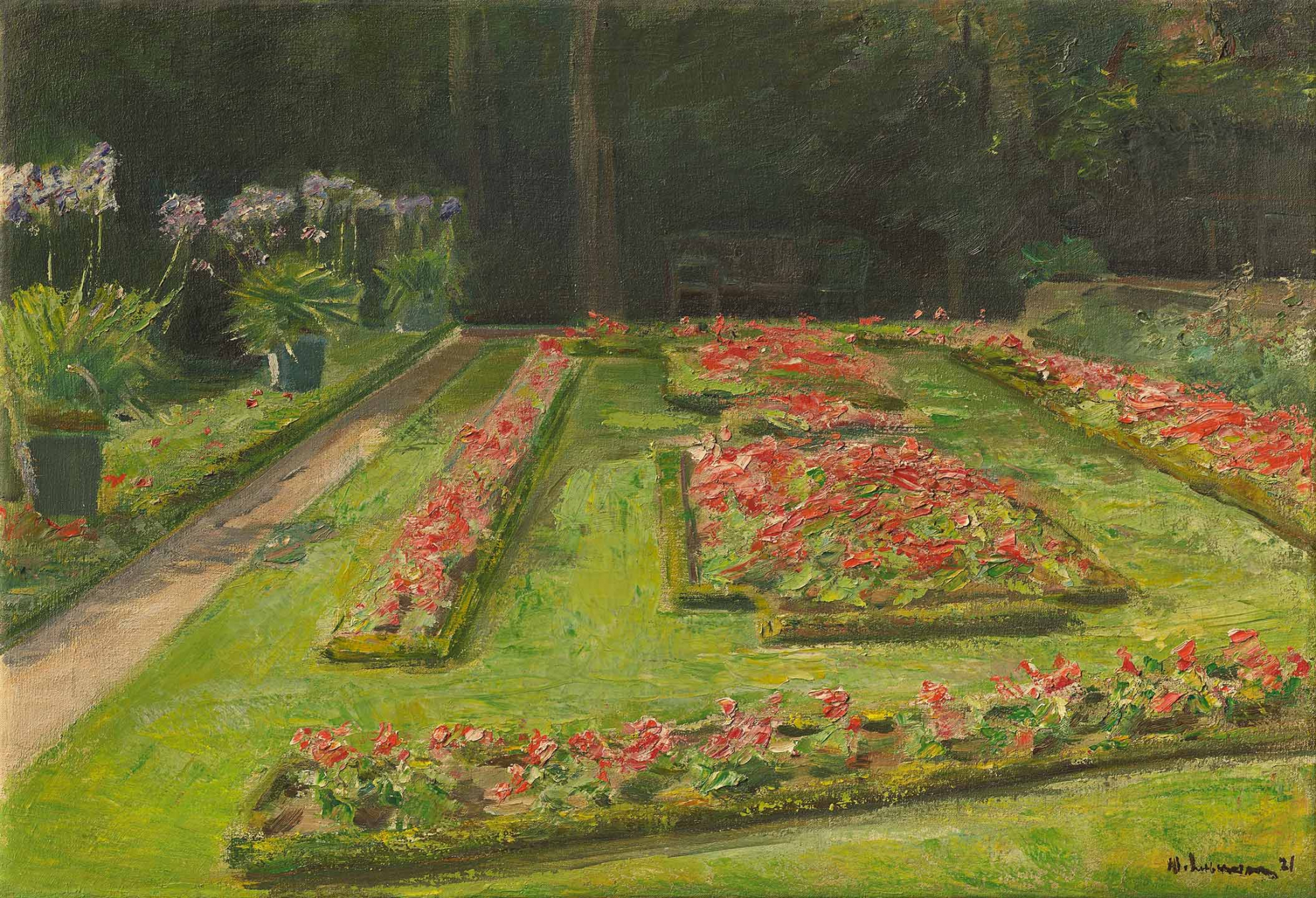 Painting of a garden