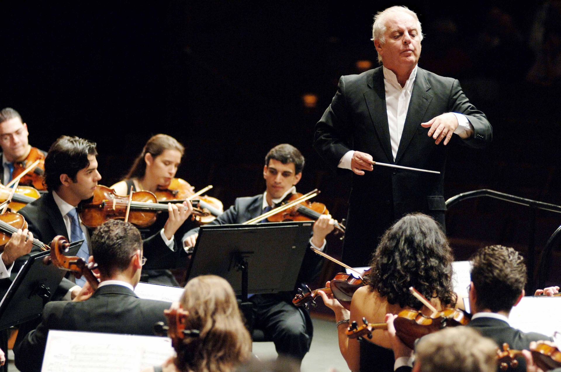 Photo of the orchestra at a concert