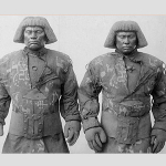 Two golem-figures (golem lookalikes)