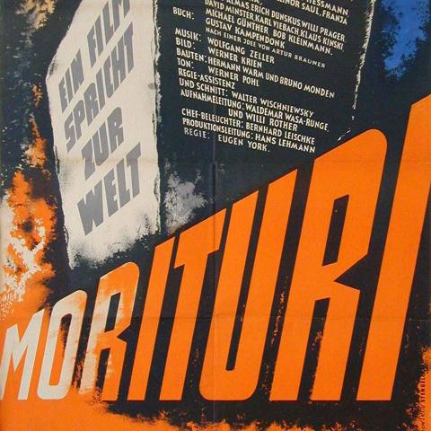 "Filmplakat von ""Morituri"""