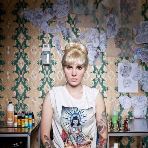 The tattoo artist Myra Brodsky