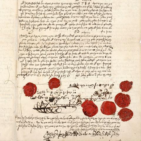 Eine der letzten Seiten des Testaments von Veitel Heine Ephraim